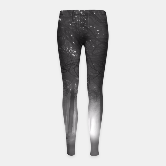 Miniatur Soul of the Forest B&W Girl's Leggings, Live Heroes