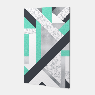 Miniatur Abstract Geo - Marble & Mint Canvas, Live Heroes