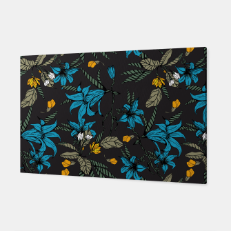 Miniatur Blooming blossoms bluish II Canvas, Live Heroes