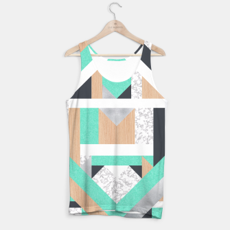 Thumbnail image of Abstract Geo - Mint, Wood and Marble Tank Top, Live Heroes
