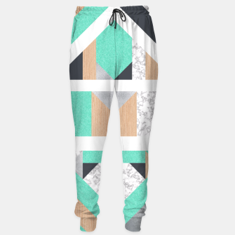 Thumbnail image of Abstract Geo - Mint, Wood and Marble Sweatpants, Live Heroes