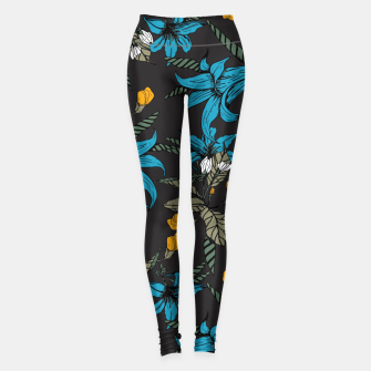 Thumbnail image of Blooming blossoms bluish II Leggings, Live Heroes