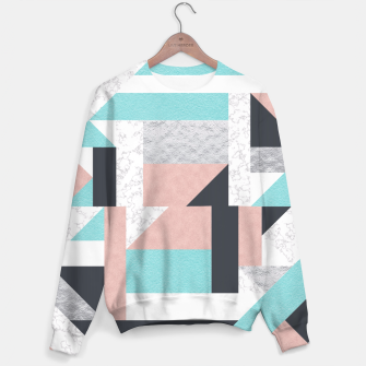 Miniatur Abstract Geo - Silver, Pink, Blue and Marble Sweater, Live Heroes