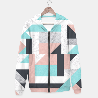 Miniatur Abstract Geo - Silver, Pink, Blue and Marble Hoodie, Live Heroes