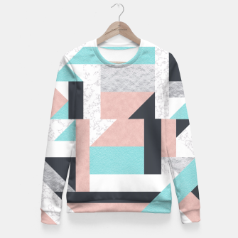Miniatur Abstract Geo - Silver, Pink, Blue and Marble Fitted Waist Sweater, Live Heroes