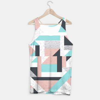 Miniatur Abstract Geo - Silver, Pink, Blue and Marble Tank Top, Live Heroes