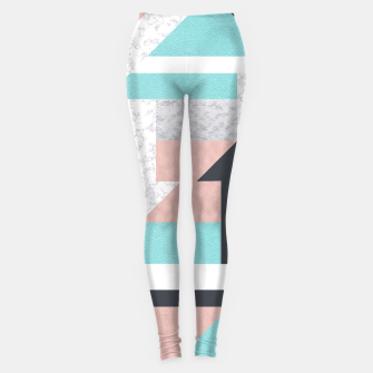 Miniatur Abstract Geo - Silver, Pink, Blue and Marble Leggings, Live Heroes