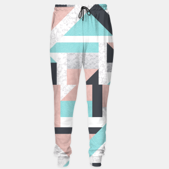 Miniatur Abstract Geo - Silver, Pink, Blue and Marble Sweatpants, Live Heroes
