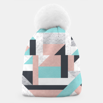 Miniatur Abstract Geo - Silver, Pink, Blue and Marble Beanie, Live Heroes