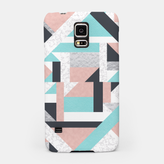 Miniatur Abstract Geo - Silver, Pink, Blue and Marble Samsung Case, Live Heroes