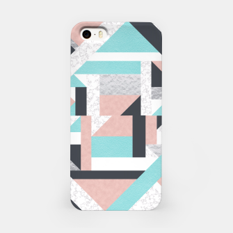 Miniatur Abstract Geo - Silver, Pink, Blue and Marble iPhone Case, Live Heroes