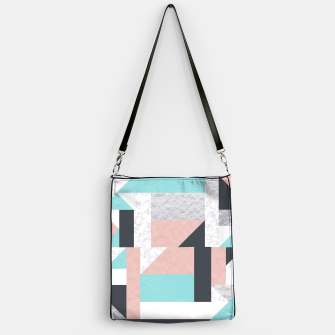 Miniatur Abstract Geo - Silver, Pink, Blue and Marble Handbag, Live Heroes
