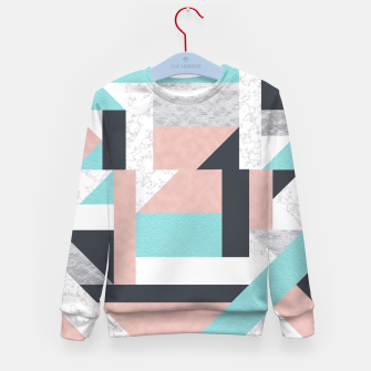 Miniatur Abstract Geo - Silver, Pink, Blue and Marble Kid's Sweater, Live Heroes