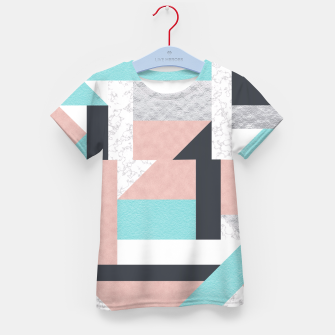 Miniatur Abstract Geo - Silver, Pink, Blue and Marble Kid's T-shirt, Live Heroes