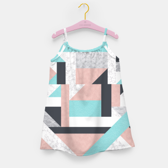 Miniatur Abstract Geo - Silver, Pink, Blue and Marble Girl's Dress, Live Heroes