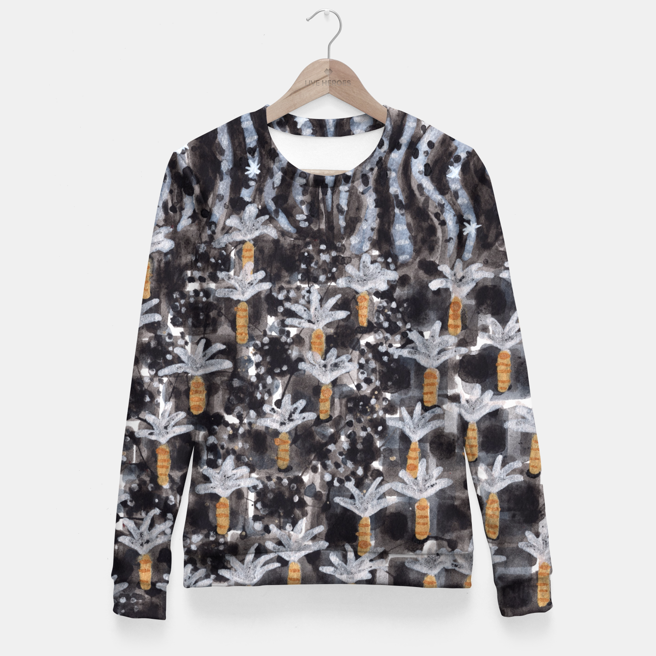Image of Palm Trees with Lava  Fitted Waist Sweater - Live Heroes