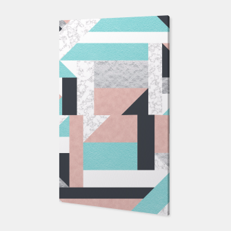 Miniatur Abstract Geo - Silver, Pink, Blue and Marble Canvas, Live Heroes
