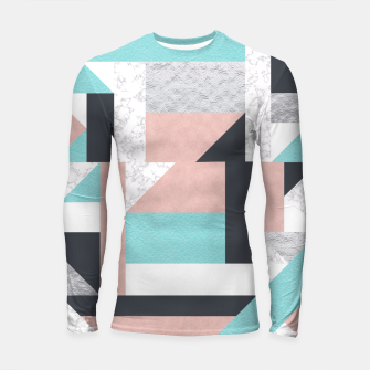 Miniatur Abstract Geo - Silver, Pink, Blue and Marble Longsleeve Rashguard , Live Heroes