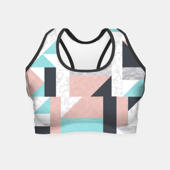 Miniatur Abstract Geo - Silver, Pink, Blue and Marble Crop Top, Live Heroes