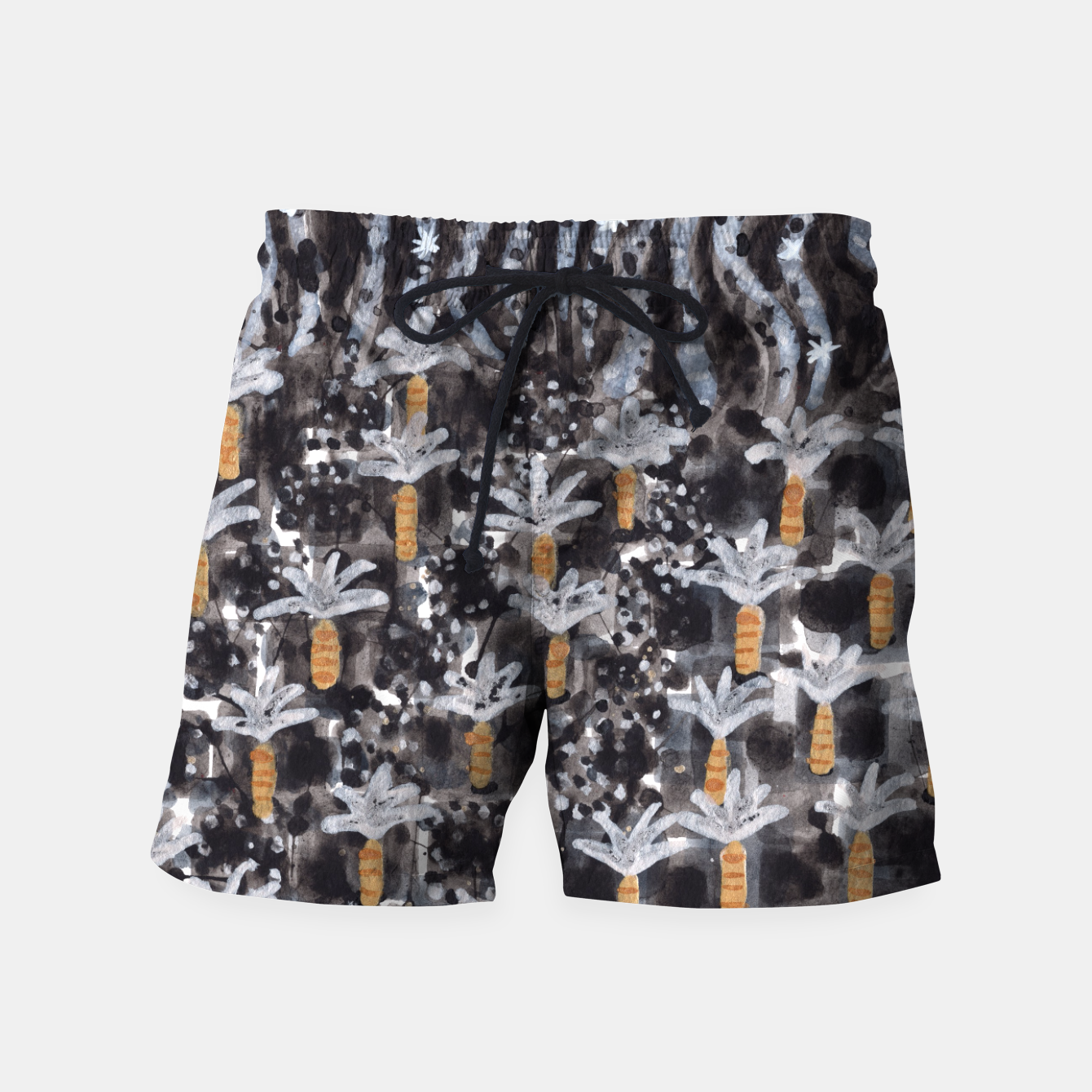Image of Palm Trees with Lava  Swim Shorts - Live Heroes