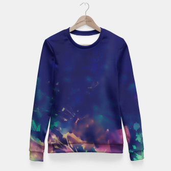 Thumbnail image of Flowery Abstract Pastel Fitted Waist Sweater, Live Heroes