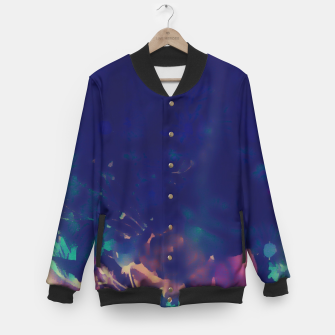 Thumbnail image of Flowery Abstract Pastel Baseball Jacket, Live Heroes