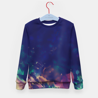 Thumbnail image of Flowery Abstract Pastel Kid's Sweater, Live Heroes