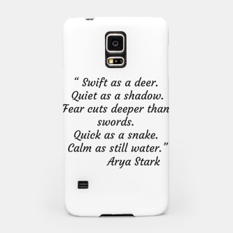 Thumbnail image of Swift as a deer... Arya Stark Quote Samsung Case, Live Heroes