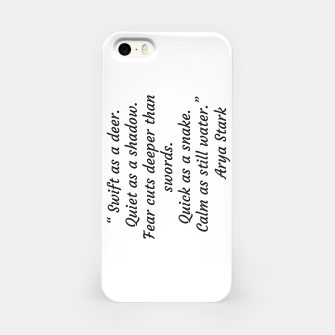 Thumbnail image of Swift as a deer... Arya Stark Quote iPhone Case, Live Heroes