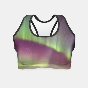 Thumbnail image of Polar Light over mountains Crop Top, Live Heroes