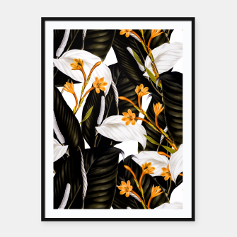 Thumbnail image of Exotic botanical pattern 02 Cartel con marco, Live Heroes