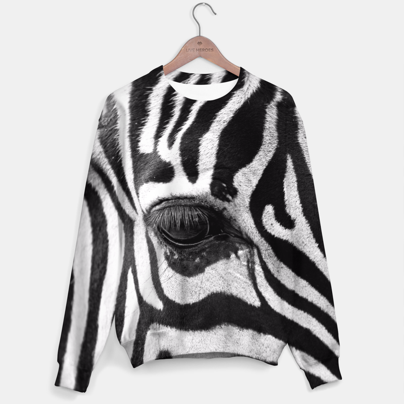 Image of Zebra Sweater - Live Heroes
