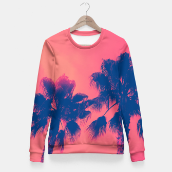 Thumbnail image of Sunset Palmtrees Fitted Waist Sweater, Live Heroes
