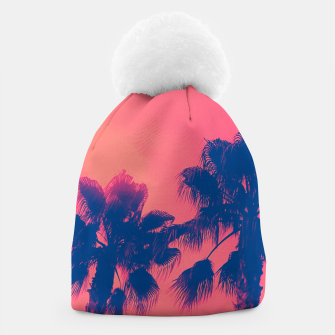 Thumbnail image of Sunset Palmtrees Beanie, Live Heroes
