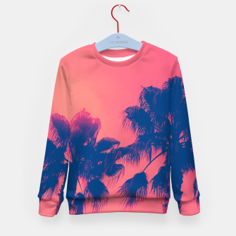 Thumbnail image of Sunset Palmtrees Kid's Sweater, Live Heroes
