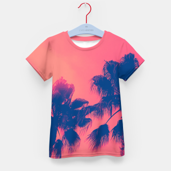 Thumbnail image of Sunset Palmtrees Kid's T-shirt, Live Heroes