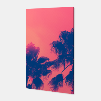 Thumbnail image of Sunset Palmtrees Canvas, Live Heroes