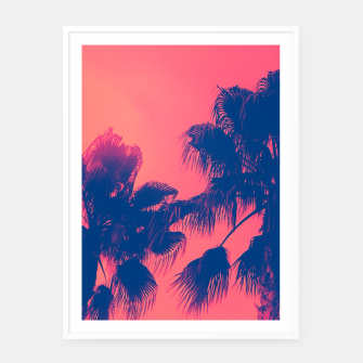 Thumbnail image of Sunset Palmtrees Framed poster, Live Heroes
