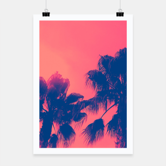 Thumbnail image of Sunset Palmtrees Poster, Live Heroes
