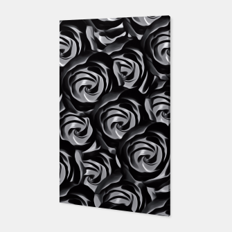 Miniatur blooming rose pattern texture abstract background in black and white Canvas, Live Heroes
