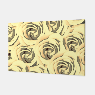 Miniatur blooming yellow rose pattern texture abstract background Canvas, Live Heroes