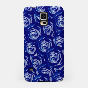 Miniatur blooming blue rose pattern texture abstract background Samsung Case, Live Heroes
