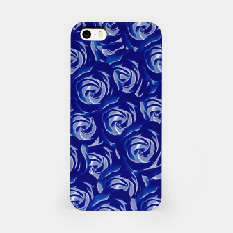 Miniatur blooming blue rose pattern texture abstract background iPhone Case, Live Heroes