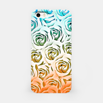Miniatur blooming rose pattern texture abstract background in blue and pink iPhone Case, Live Heroes