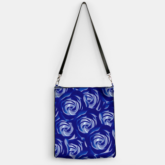Miniatur blooming blue rose pattern texture abstract background Handbag, Live Heroes