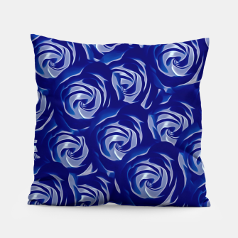 Miniatur blooming blue rose pattern texture abstract background Pillow, Live Heroes