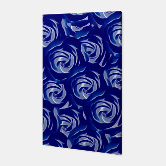 Miniatur blooming blue rose pattern texture abstract background Canvas, Live Heroes