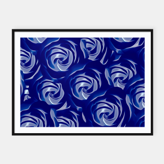 Miniatur blooming blue rose pattern texture abstract background Framed poster, Live Heroes