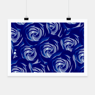 Miniatur blooming blue rose pattern texture abstract background Poster, Live Heroes