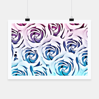 Thumbnail image of blooming rose pattern texture abstract background in pink and blue Poster, Live Heroes